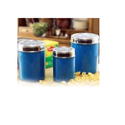 Blue Top See Through Canister W/color, For Home