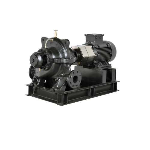 Mild Steel Horizontal Split Casing Pump, Capacity: Up to 4000 cu.m/hr
