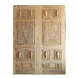 Designer Solid Teak Wood Door
