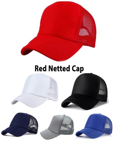 6baa66a4 Netted Red Mesh Caps, Size: Free, Rs 60 /piece, Alamdar ...