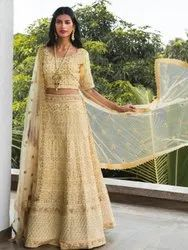 Mind Blowing Wedding Designer Embroidery Lehnega Choli By Parvati Fabric (76623)