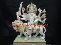 White Marble Sherawali Mata Moorti