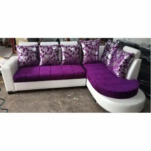 Teak Wood Purple And White Sofa Set Rs 30000 Set I Comfort Sofa