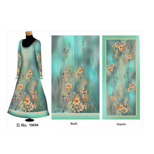 Embroidered Cotton Ladies Unstitched Suit