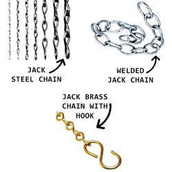Jack Steel Chain & Welded Jack Chain & Jack Brass Chain With Hook