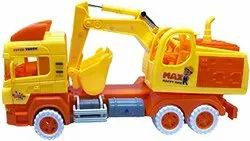 Yellow Friction Construction Excavator Truck for Play School