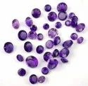 Natural Purple Amethyst Round  Normal Cut Gemstone