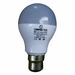 9W Round Champion LED Bulb, Base Type: B22