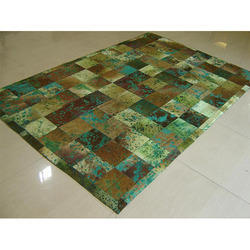 Ocean Green Leather Rug