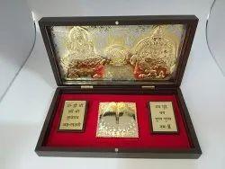 Laxmi Kuber Gold Plated Pooja Box