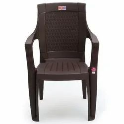 2.7 Kg With Hand Rest (arms) Avro 7756 Brown Molded Plastic Arm Chair