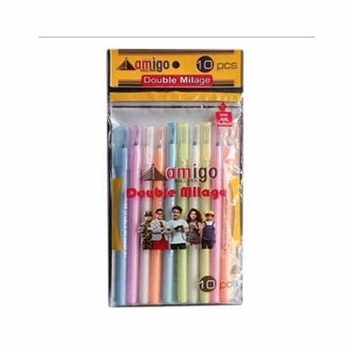 plastic amigo double mileage pen rs 1 9 piece mitra agro