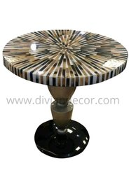 Stripes Horn Inlay Coffee Table