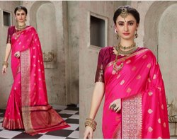 Stylish party wear banarasi silksaree