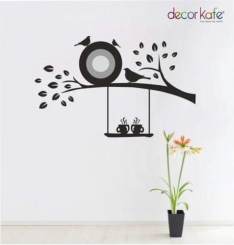 3cc7a6b537 Multiple Decor KAFE 3D Art Custom Vinyl Wall Sticker Flying Birds Tree  Branch Wall Decal For