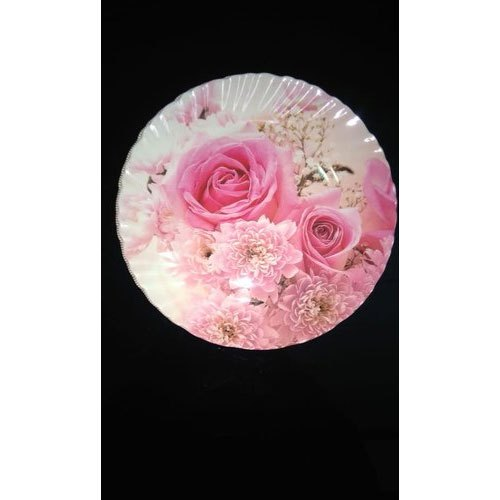Rose Printed Dinner Plate