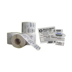 Black And White Paper Barcode Sticker, Packaging Type: Roll & Sheet Form