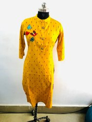 Yellow Ladies Casual Kurti