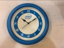 Blue Frame Promotional Wall Clock