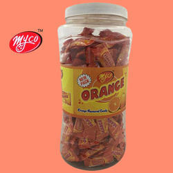 Myco and Myco Orange Flavored Candy 300, Packaging Type: Plastic Jar and Plastic Jar