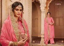 Maisha Santhiya Banarasi Jacquard Party Wear Long Salwar Kameez
