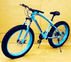 Hummer Blue Fat Tyre Cycle
