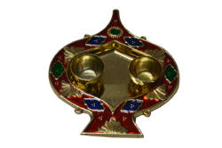 Heart Paan Shape Brass Pooja Thalis