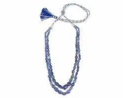 Natural Tanzanite Gemstone Beads Necklace