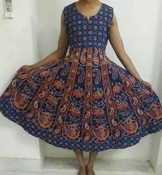 Sanganeri Cotton Maxi Dress