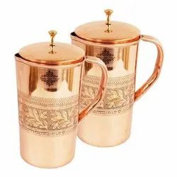 Engraving Copper Jug