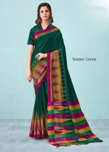 32a30dc760 Pure Cotton Casual Wear Saree, Length: 5.5 M, Rs 1125 /piece | ID ...