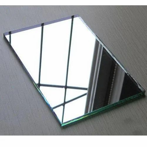 Glossy Glass Mirror, For Bathroom, Size: 6 X 8 Feet
