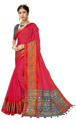 Exclusive Designer Cotton Silk Weaving  Saree ,6.3mtr