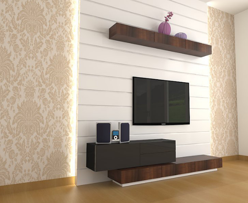 wren tv unit design at rs 45000 piece designer tv unit id