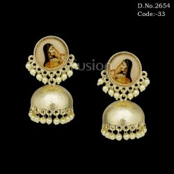 Traditional Designer Monalisa Jhumka Earrings