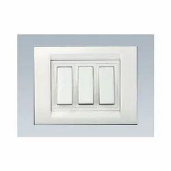 6 A White Designer Modular Switch, 220 V