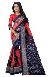 Silk Printed Bandhani Bhagalpuri Saree