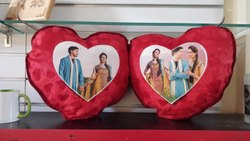 Double Heart Sublimation Cushion