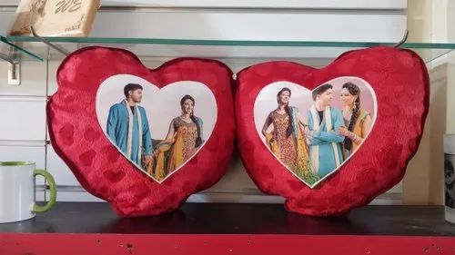 Red Double Heart Sublimation Cushion, Rs 280 /piece Deeher Gifts ...