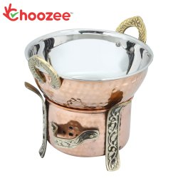 Choozee -Steel Copper Food Warmer with Kadhai - 400ML