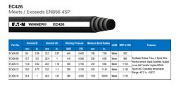 60 HYDRAULIC SPIRAL HOSE EC426, For OIL, 350 Bar