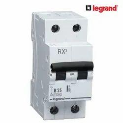 25 A Legrand RX3 25A Double Pole MCB