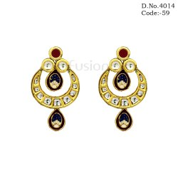 Traditional Kundan Chandbali Earrings
