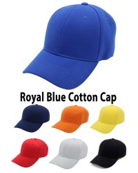 Royal Blue Cotton Baseball Caps, Fashion Styles Caps And Hats