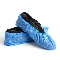 Blue Plastic Shoe Covers