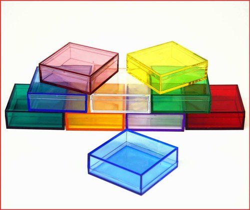 Multicolor Colorful Acrylic Display Boxes, Rectangle And Square, 3mm