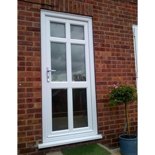 White Upvc Back Door