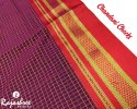 Rajashree Formal Wear Chandani Checks Cotton Sarees, 5.2 M (separate Blouse Piece)