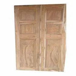 Teak Wood Exterior Teak Hand Carved Door, Size/Dimension: 7x3 Feet
