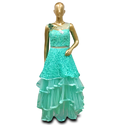 Silk Party Wear Net Dress